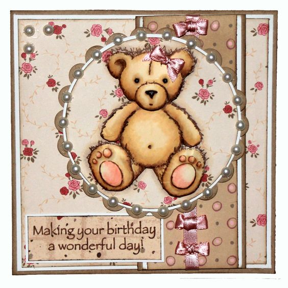 This is the gorgeous new Scruff & Herbert Teddy Bear set designed by Sharon Bennett for Hobby Art. Foam Mounted Grey Rubber Stamp backed onto EZ Mount so will adhere to any Acrylic Block. Scruff Stamp Size - 73mm x 86mm approx Herbert Stamp Size - 94mm x 71mm approx. This Gorgeous card was made by Sally Dodger: