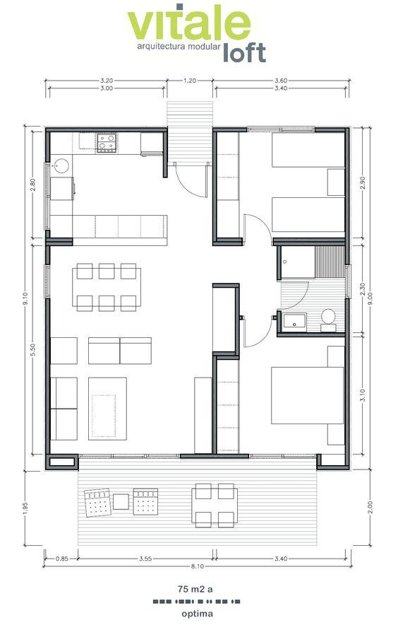 Casas prefabricadas modulares de hormig n modelo optima - Modelos de casas prefabricadas ...