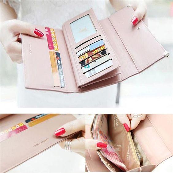 Women Wallets Bag Popular Purse Long PU Handbags Card Holder Birthday Bags