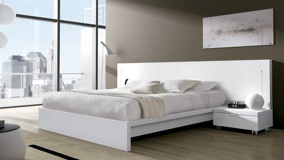 Dormitorios matrimonio modernos blancos dise o de for Ver dormitorios matrimonio