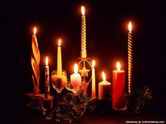 Christmas Candles Wallpaper Download