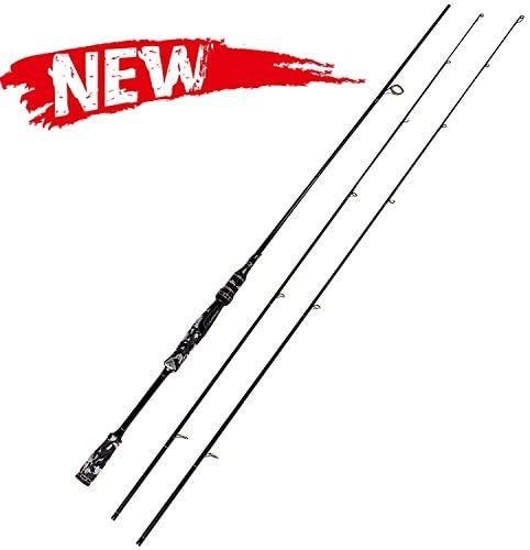 Entsport Camo Legend 2 Piece 7 Feet Spinning Rod 24 Ton Carbon Fiber Spincasting Fishing Rod With 2 Tips Medium A Bass Fishing Rods Spinning Rods Fishing Rod
