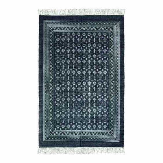 Teppich, Funky, grau/beige, 160 x 230 cm, 100% Baumwolle von house do