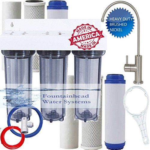 Best Kitchen Faucet Clear 3 Stage Under Sink Water Filter Extra