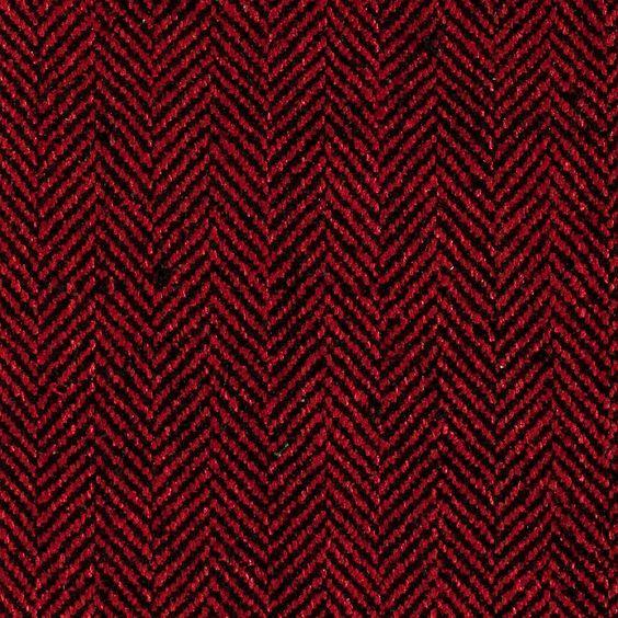 ANICHINI Fabrics | Herringbone Red/Black Hand Loomed Silk - a red/black herringbone silk fabric