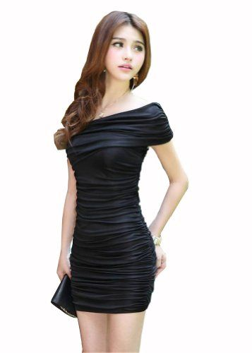 awesome Promithi Women's Summer Mini Skirt Slim Fit Fold Dress @ http://womenapparelclothing.com/dresses/night-out-cocktail-dresses/promithi-womens-summer-mini-skirt-slim-fit-fold-dress/