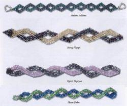 браслет волнистые линии
