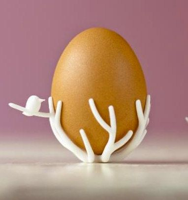 3d Printed Egg Stand by Melabot on Etsy, $3.00: