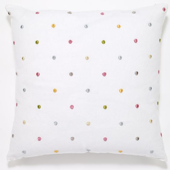 #C996 Pink Dots PILLOW 20 x 20