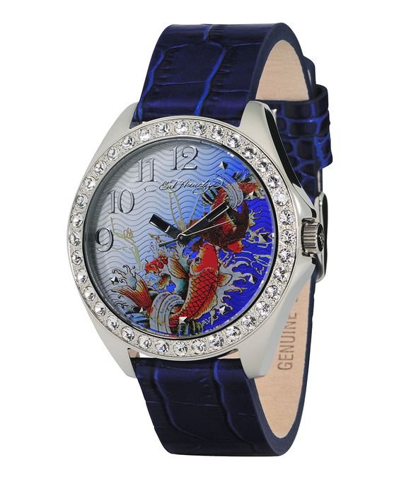 Blue Koi Embossed Starlet Watch - Women | Daily deals for moms, babies and kids