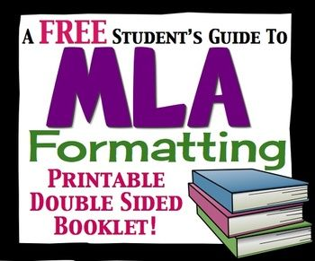 FREE MLA Formatting Student Handbook: Great For Essay Writing Unit