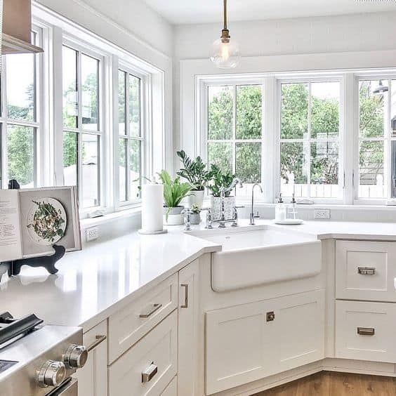23 Kitchen Corner Cabinet Ideas For 2021 Corner Sink Kitchen Interior Design Kitchen Kitchen Sink Design