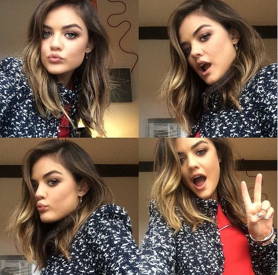 Lucy Hale Just Chopped All Her Hair Off Into This Gorgeous Long Ombre Bob