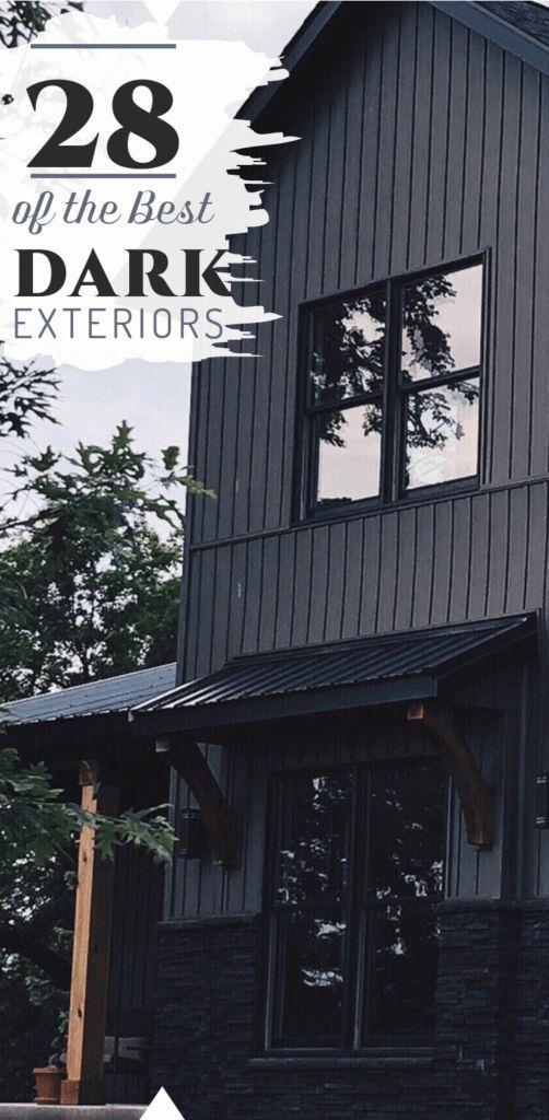 Dark Exterior Ideas To Revolutionize Your House Down Leah S Lane Black House Exterior Exterior House Colors Dark House
