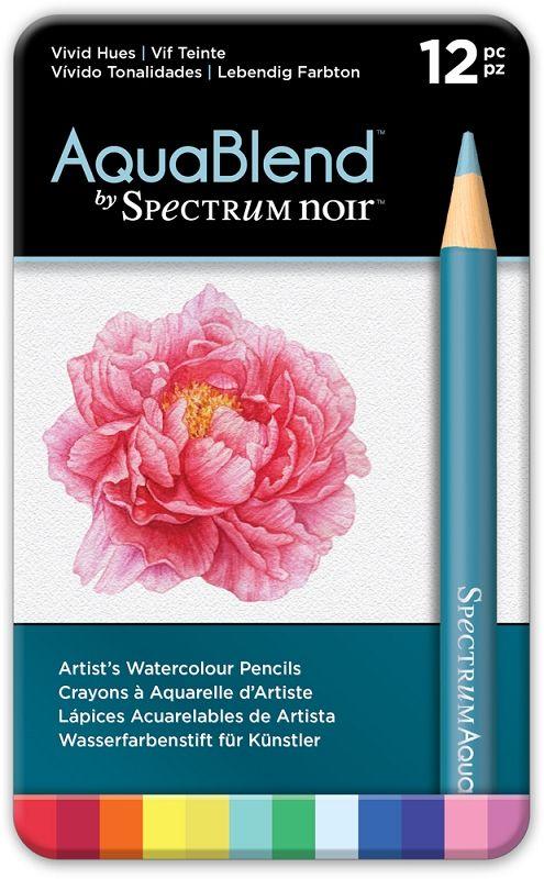 Aquablend By Spectrum Noir 12 Pencil Set Vivid Hues Spectrum