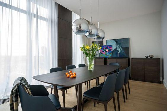 Eine stilvolle Wohnung Warschau, Polen von Republika Architektury