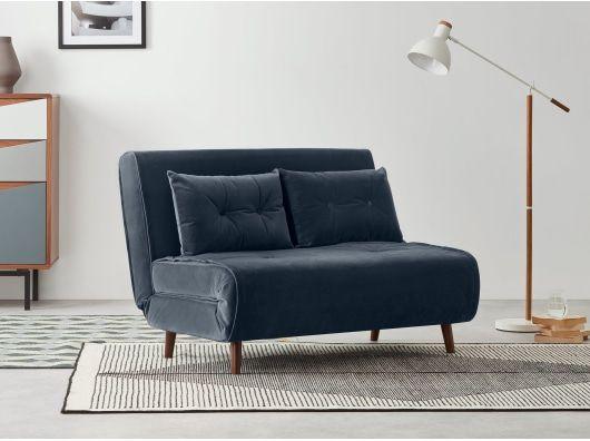 Haru Small Sofa Bed Sapphire Blue Velvet Sofa Bed Uk Small Sofa Bed Comfortable Sofa Bed