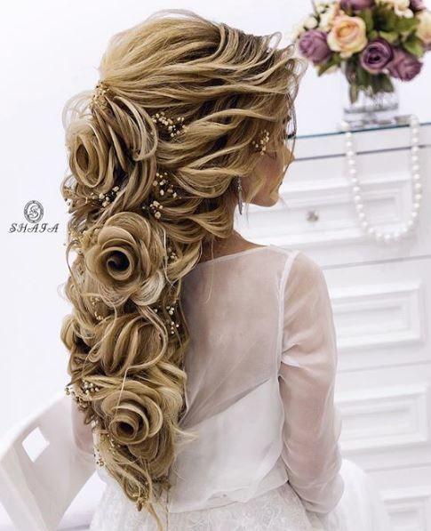 12 Wedding hairstyles for long hair. #WeddingHairandMakeupTips