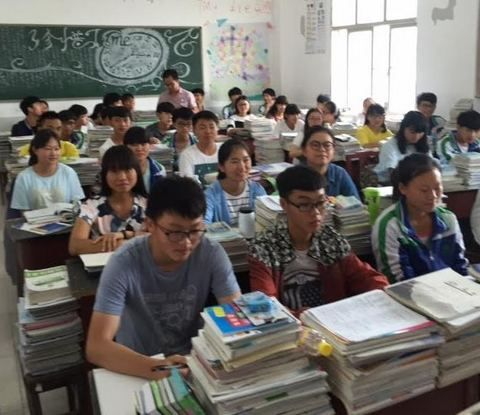 We taught the regular English classes at Anlong High School