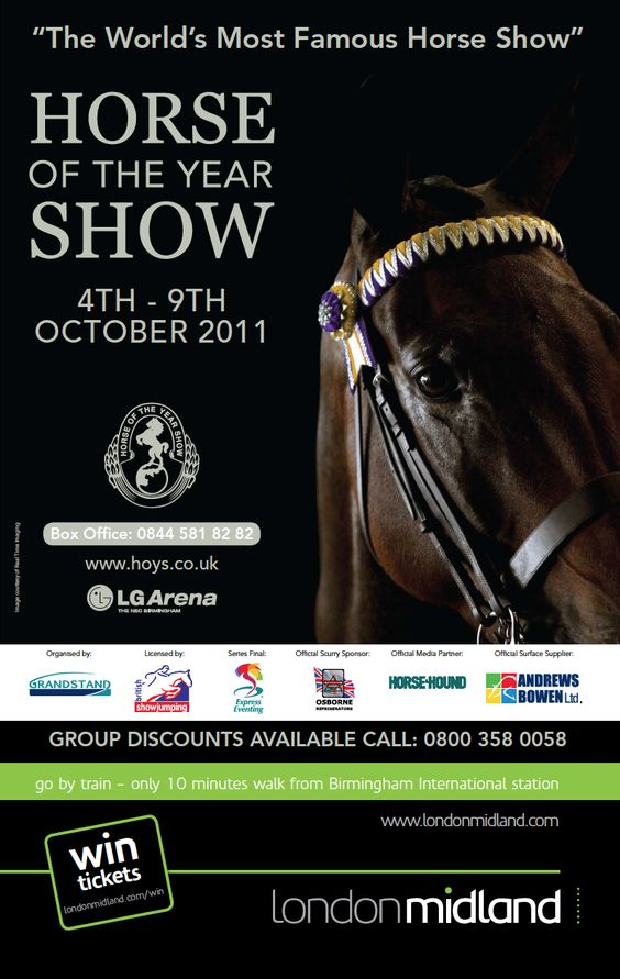 Promoting the Horse of the Year show at the LG Arena in October 2011