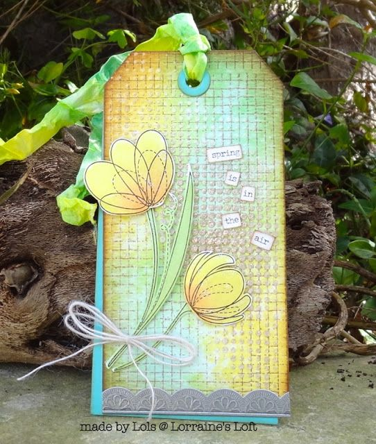 Lorraine's Loft: Simon Says Stamp Spring Flowers  http://loraquilina.blogspot.com.mt/2016/02/spring-is-in-air.html
