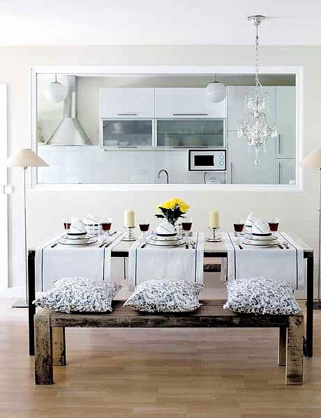Comedor cocina ventana deco pinterest rincon for Cocina comedor en l