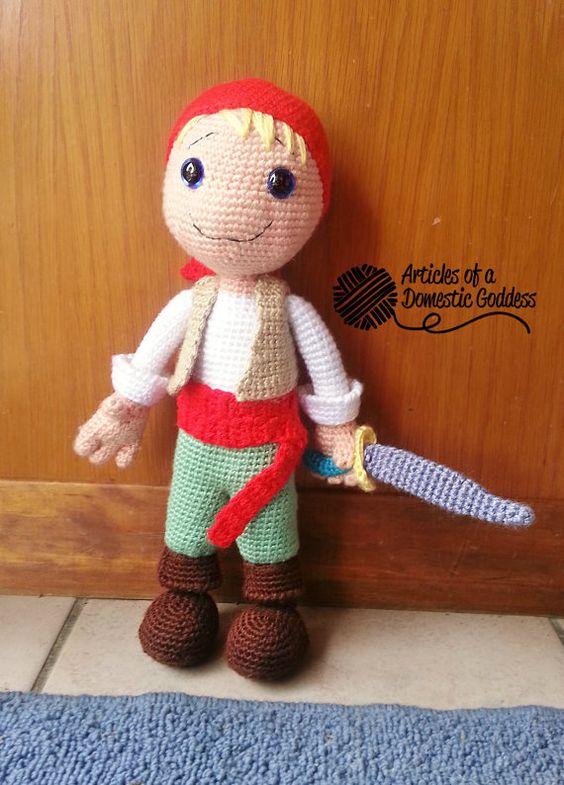 Amigurumi Doll Boy : Amigurumi, Pirates and Boys on Pinterest