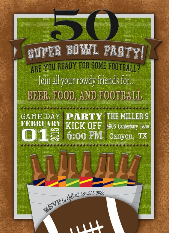 Super Bowl Invite Wording Ideas super bowl party invitations