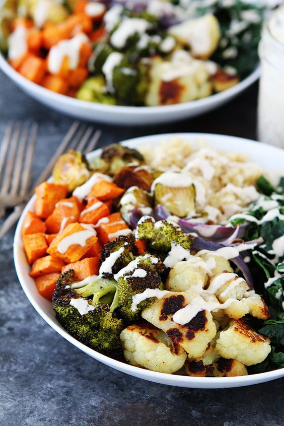 Roasted Vegetable Quinoa Bowls