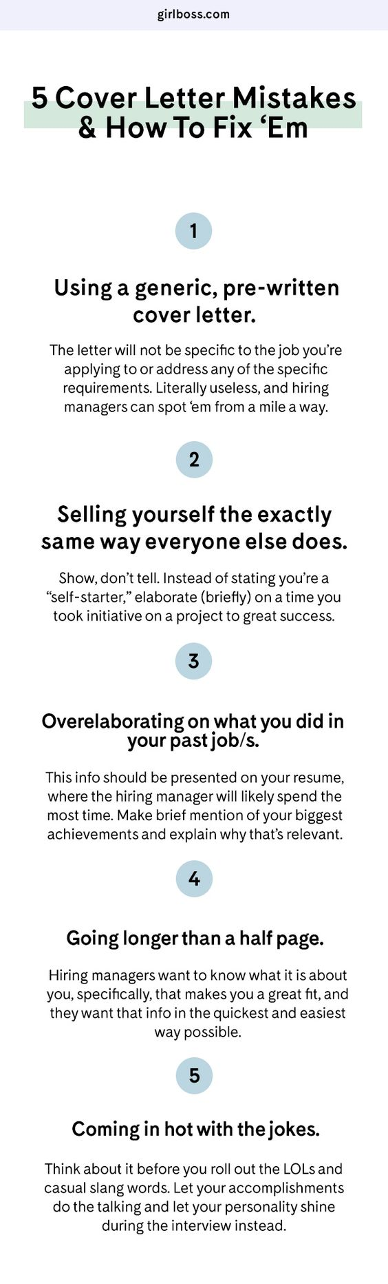 GirlbossCom  Cover Letter Mistakes  How To Fix Them  Job