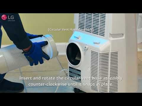 Lg Portable Air Conditioner Installation 2018 Update Youtube