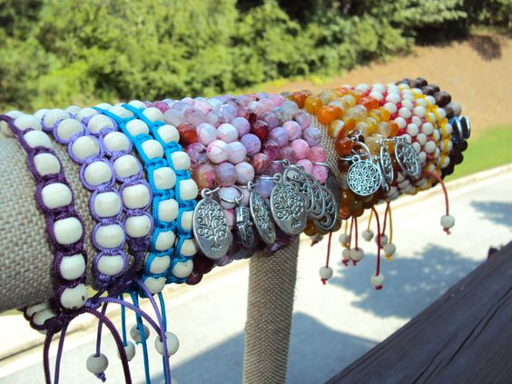 Yoga Inspired Bracelets - Handmade by Neet Jewelry $20 each