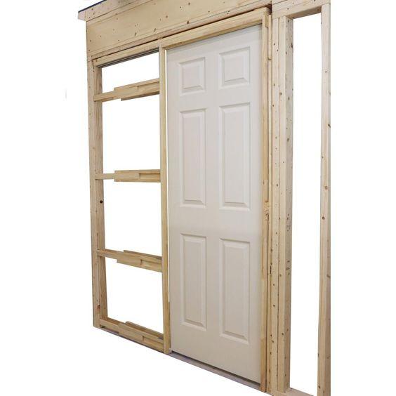 Alexandria Moulding Compact Adjustable 24 In To 36 In X 80 In Pocket Door Frame For Doors Pdh24 00080c The Home Depot In 2020 Pocket Door Frame Pocket Door Installation Pocket Doors