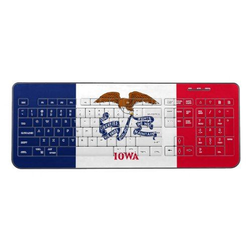 Patriotic Iowa State Flag Wireless Keyboard Zazzle Com Iowa