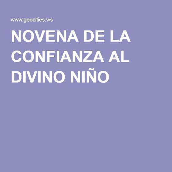 NOVENA DE LA CONFIANZA AL DIVINO NIÑO