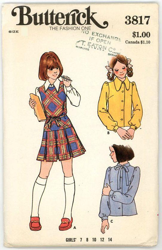 Vintage Butterick Pattern 3817  Girl's by stillinvoguevintage, $4.50