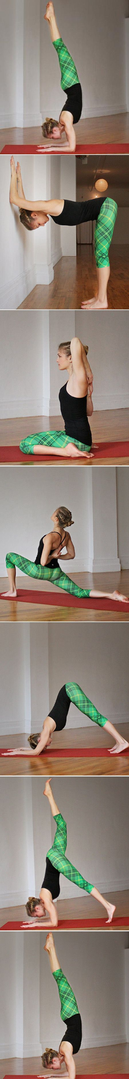 Step-By-Step Breakdown: Forearm Stand  #yoga   http://www.shape.com/blogs/working-it-out/step-step-breakdown-forearm-stand
