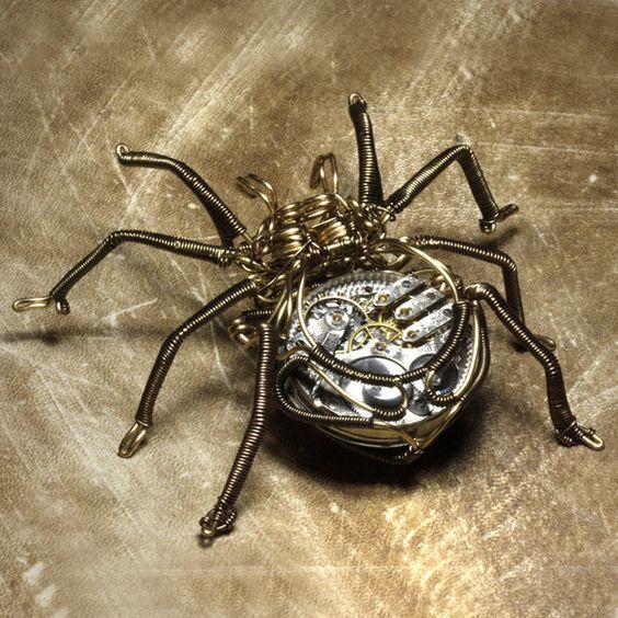 Clockwork spider steampunk by CatherinetteRings on DeviantArt