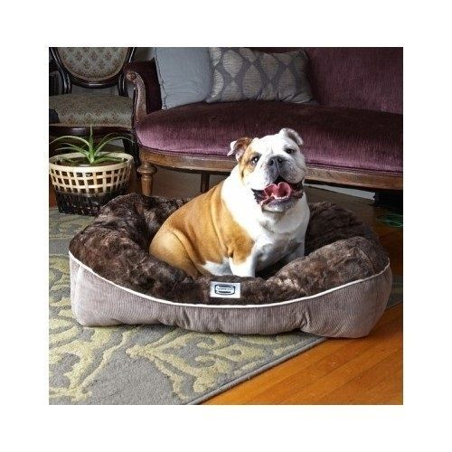 Large Dog Bed Plush Sloped Sides Support Lounge Pet Cozy Nest Spoiled Mat Puppy  #Beautyrest