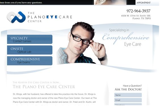 Websites Optimized for Optometrists