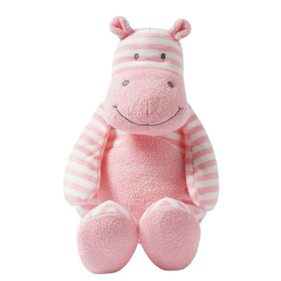 Giggle Large Striped Hippo Stuffed Animal Toy