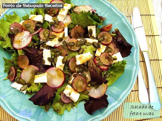 Ponto de Rebuçado Receitas: Salada de uvas e feta