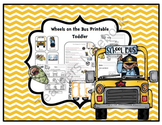 Wheels On The Bus Printable Toddler From Preschool