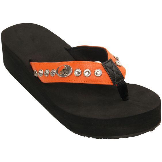 Cleveland Browns Women's Wedge Flip Flops - $29.99
