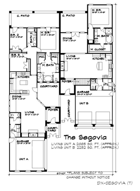 Home House Plans And The Courtyard On Pinterest