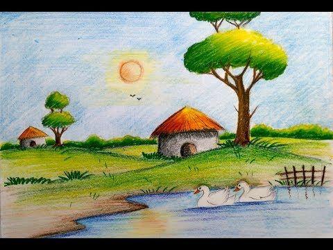 Paisajes Faciles De Dibujar Recursos Educativos Y Material Didactico Para Ninos As De Infantil Y Dibujos Faciles Dibujos De Crayones Dibujos De La Naturaleza