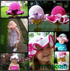 Sun Hats for the Family   AllFreeCrochet.com