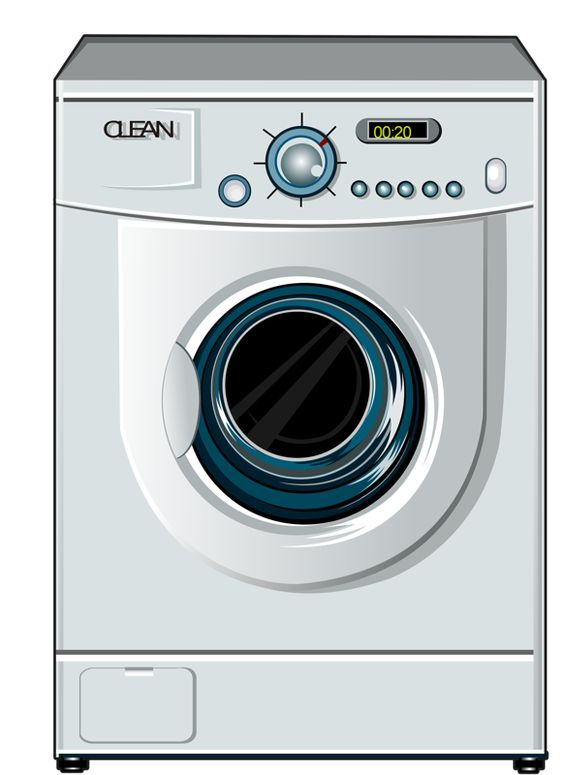happy washing machine clipart the image. Black Bedroom Furniture Sets. Home Design Ideas