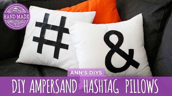 DIY Ampersand & Hashtag Pillows - HGTV Handmade