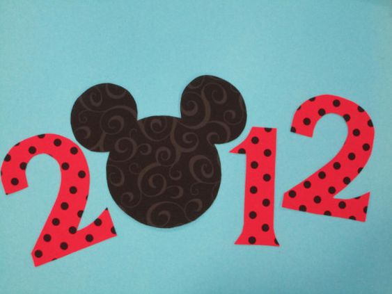 2012 Mickey Mouse Iron On Applique Red by Bayjorder on Etsy, $4.75